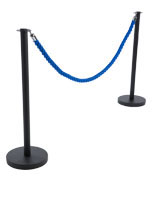 Blue Queue Rope with (2) Posts
