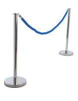 Blue Theater Rope with (2) Posts
