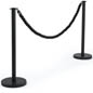 Sturdy Queue Pole with Black Twisted Rope