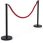 Stanchions and Red Rope Barrier