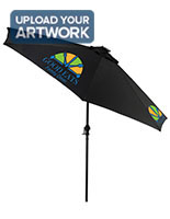 Custom  Restaurant Umbrella with Solar Powered LED Lights