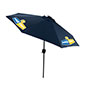 Navy Blue Business Umbrella with Bluetooth Capabilities
