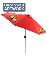 Solar Powered Custom Market Umbrella