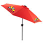 Red Custom Market Umbrella with LED Lights
