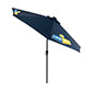Navy Blue Outdoor Market Umbrella with Solar Powered LED Lights
