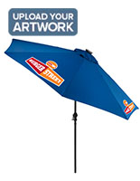 This Royal Blue Customized Umbrella has Solar Powered LED Lights