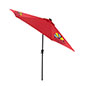 Red Patio Market Umbrella with Solar Powered LED Lights