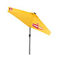 LED Restaurant Umbrella with Yellow Canopy and Custom Graphics