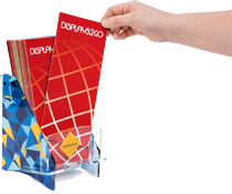 Custom printed acrylic literature holders elevate the branding efforts of your business