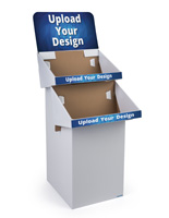 Custom Cardboard Display Stands with 2 Shelves
