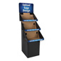 Triple Tiered 3 Shelf Custom Printed Cardboard Floor Stand