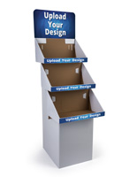 White Customized 3 Tier Cardboard FSDU Display