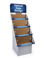 Custom Cardboard Retail Displays with 4 Shelves