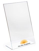 Custom 11x17 Acrylic Slant Back Sign Holder