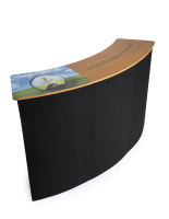 Black pop up custom counter with personalized branding