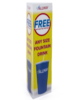 42-inch tall printed coroplast bollard cover sign