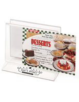 Double Sided Customized Tabletop Menu Holder Rack