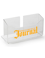 Printed Acrylic Tabletop Newspaper Holder