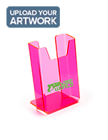 Single pocket custom pink trifold display stand