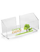 Clear Acrylic Literature Pocket with Custom UV Printing