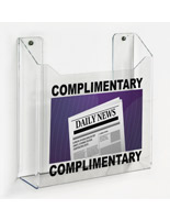 Wall mount custom printed newspaper tabloid rack with hardware included