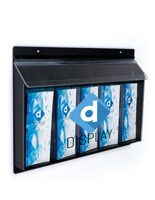 UV printed realtor style outdoor flyer dispenser rack