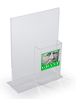 Custom Acrylic Angled Sign and Brochure Holder