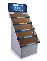 5-Tiered Custom Cardboard Floor Displays
