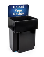 Black Customized Cardboard FSDU Dump Bin