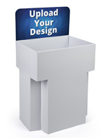 "Customized Cardboard Dump Bin Displays with 18"" Deep Compartment"