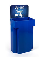 Blue Customized Retail Display Cardboard Bins