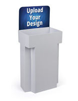 Printable Cardboard Dump Bins for Retail with Custom Graphics