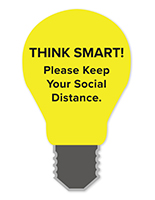 36 inch tall light bulb foam wall sign