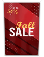 30in wide by 60in tall custom vinyl hanging banners
