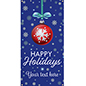 portrait orientation 2' x 4' hanging vinyl holiday banner