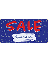 4' x 2' seasonal hanging banner for retail promotions