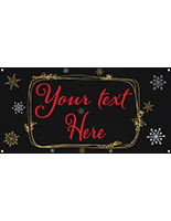4' x 2' chalkboard hanging holiday banner with 4 corner grommets