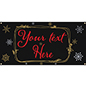 4' x 2' chalkboard hanging holiday banner with personalized message