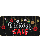 4' x 2' chalkboard holiday sale banner with 4 grommets