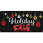 4' x 2' chalkboard holiday sale banner with vinyl construction