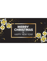 48 x 24 Dark colored merry christmas banner