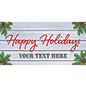 4' x 2' holiday hanging business banner with cottage theme design