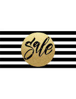 48 x 24 Black striped christmas retail banner