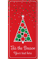 2' x 4' vinyl hanging holiday banner with personalized text