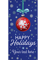 3' x 6' hanging vinyl holiday banner for indoor use