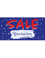 6' x 3' seasonal hanging banner with personalization option