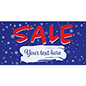 6' x 3' seasonal hanging banner for retail stores