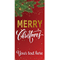 "3' x 6' ""Merry Christmas"" hanging business banner with festive red background"