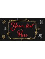 6' x 3' chalkboard hanging holiday banner with 4 grommets