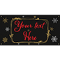 6' x 3' chalkboard hanging holiday banner with festive artwork